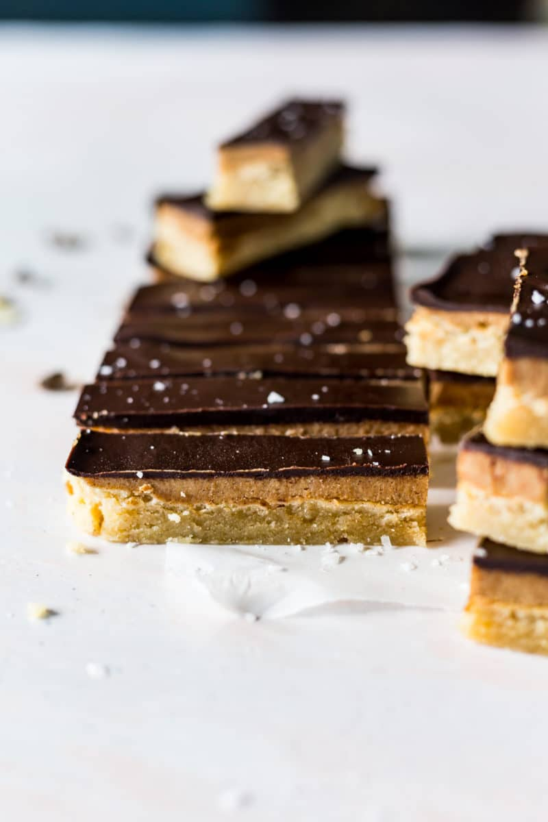 Homemade Twix Bars (vegan)